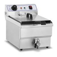 Royal Catering Friggitrice elettrica RCEF-13EH (13 L, 3200 W, 230 V, Termostato 60–200 °C, Vasca Estraibile, Acciaio Inox)